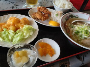 エビマヨネーズ定食