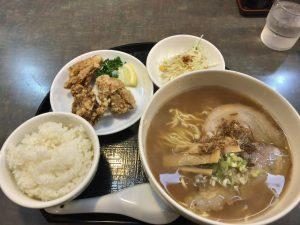 醤油拉麺(豊)&唐揚げセット