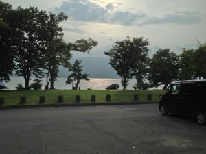 ホテルの前からの眺め