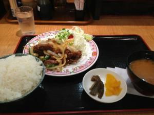 焼肉定食(マヨチキはあとから…)